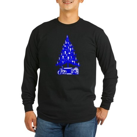 Christmas Tree Long Sleeve Dark T-Shirt