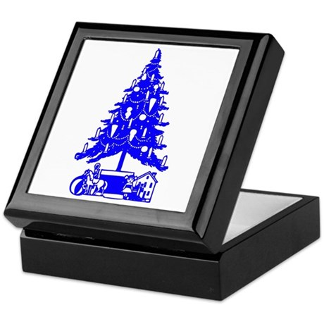 Christmas Tree Keepsake Box