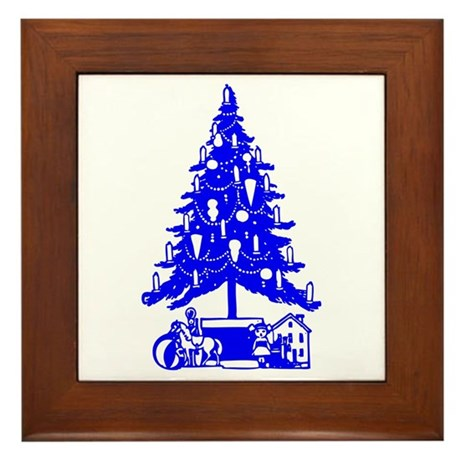 Christmas Tree Framed Tile