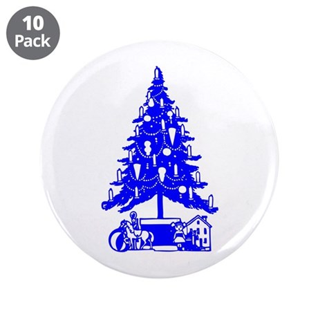 "Christmas Tree 3.5"" Button (10 pack)"