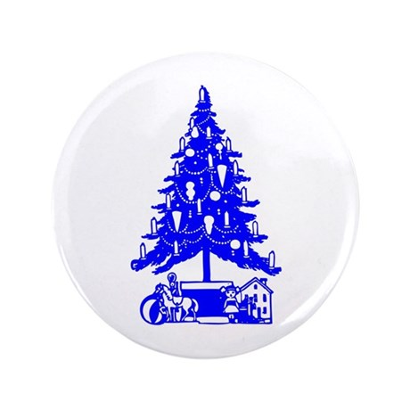 "Christmas Tree 3.5"" Button (100 pack)"