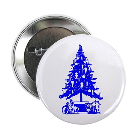 "Christmas Tree 2.25"" Button"