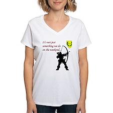 Not Just Archery Women's V-Neck T-Shirt