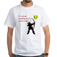 Not Just Archery White T-Shirt