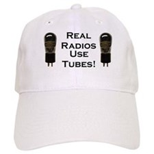 Real Radios Use Tubes! Baseball Cap