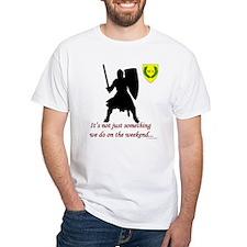 Not Just Heavy Fighting White T-Shirt