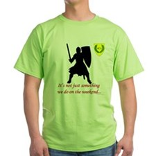 Not Just Heavy Fighting Green T-Shirt