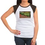 Garden is a work of heart Women's Cap Sleeve T-Shi