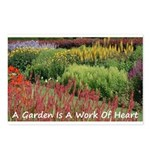 Garden is a work of heart Postcards (Package of 8)