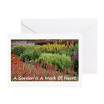Garden is a work of heart Greeting Cards (Pk of 10
