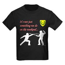 Not Just Rapier Fighting Kids Dark T-Shirt