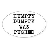 Humpty Dumpty Oval Stickers