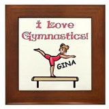 I Love Gymnastics (Gina) Framed Tile