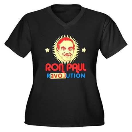 Ron Paul 2012 Womens Plus Size V-Neck Dark T-Shir