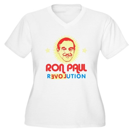 Ron Paul 2012 Plus Size V-Neck Shirt