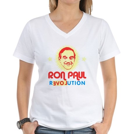 Ron Paul 2012 Womens V-Neck T-Shirt