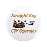 "Straight Key CW Operator 3.5"" Button"