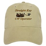 Straight Key CW Operator Baseball Cap