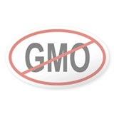 GMO Oval Bumper Stickers