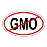 GMO Oval Decal