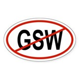 GSW Oval Decal