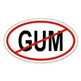 GUM Oval Decal