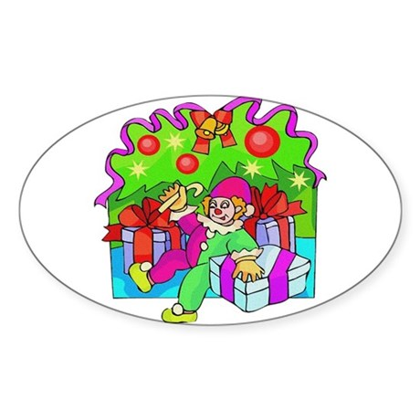 Under the Tree Oval Sticker