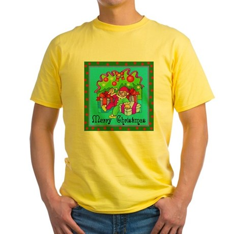 Merry Christmas Clown Yellow T-Shirt