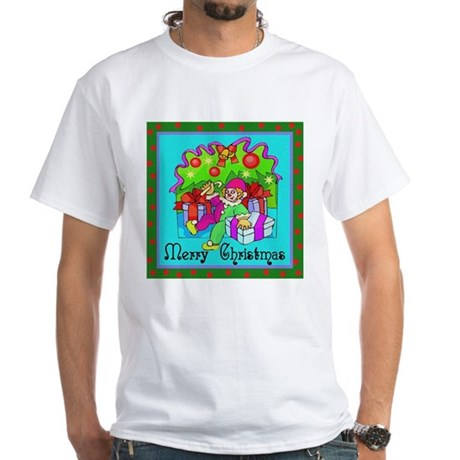 Merry Christmas Clown White T-Shirt
