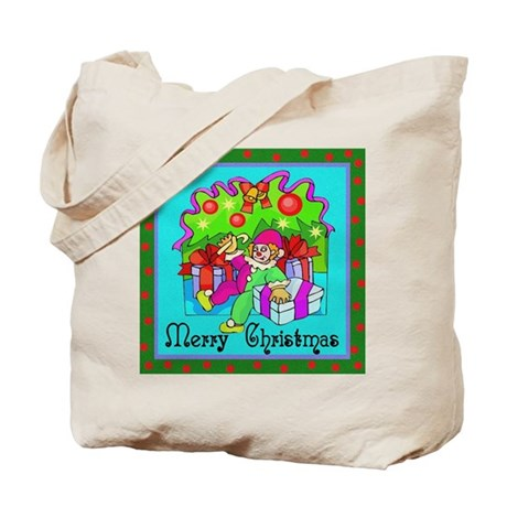 Merry Christmas Clown Tote Bag