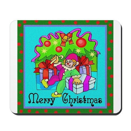 Merry Christmas Clown Mousepad