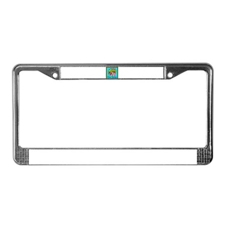 Merry Christmas Clown License Plate Frame