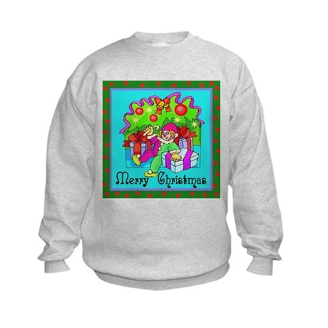 Merry Christmas Clown Kids Sweatshirt