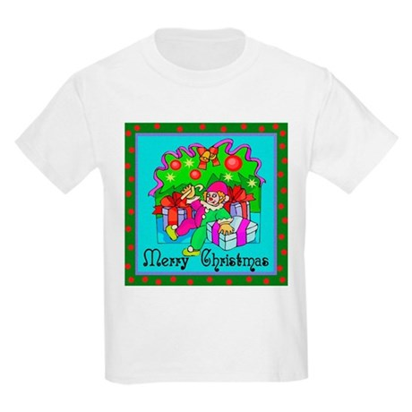 Merry Christmas Clown Kids Light T-Shirt