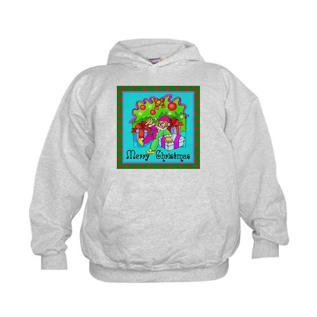 Merry Christmas Clown Kids Hoodie