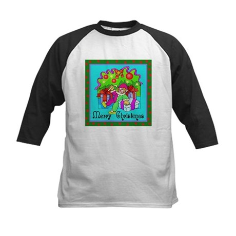 Merry Christmas Clown Kids Baseball Jersey