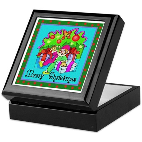 Merry Christmas Clown Keepsake Box