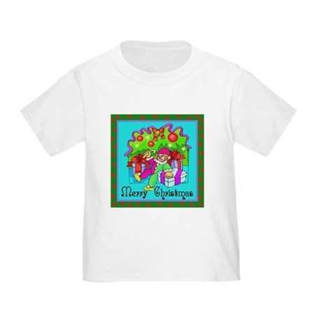Merry Christmas Clown Toddler T-Shirt