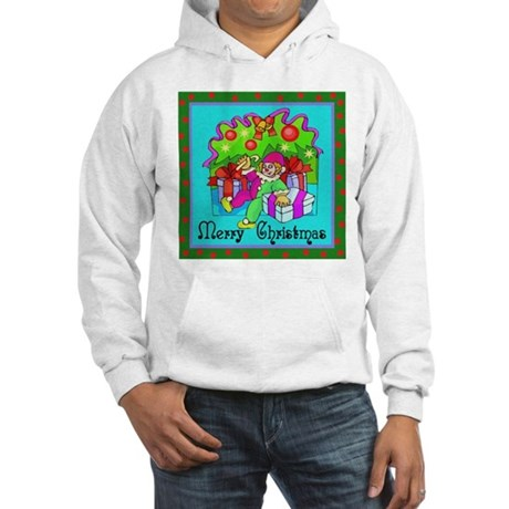 Merry Christmas Clown Hooded Sweatshirt