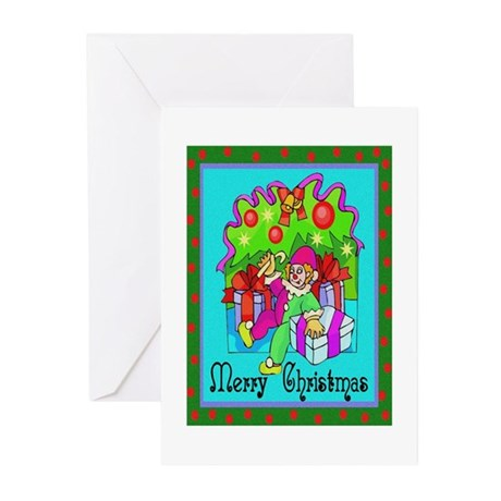 Merry Christmas Clown Greeting Cards (Pk of 20)