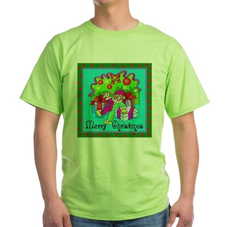 Merry Christmas Clown Green T-Shirt