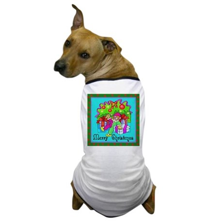 Merry Christmas Clown Dog T-Shirt