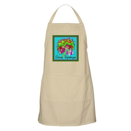 Merry Christmas Clown BBQ Apron