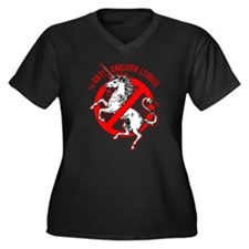 Anti-Unicorn League Women's Plus Size V-Neck Dark