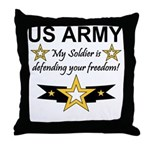 Army My Soldier is defending Throw Pillow
