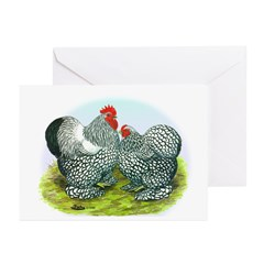 Silver-laced Cochin Rooster a Greeting Cards (Pk o
