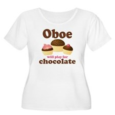 Chocolate Oboe Women's Plus Size Scoop Neck T-Shir