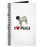 I Love Pugs Journal
