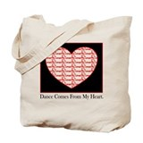 Dance Heart Tote Bag