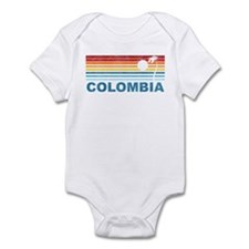 Retro Colombia Palm Tree Infant Bodysuit